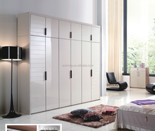 2017 New Design MDF High Gloss Bedroom Modular Wardrobe(AISWA-008)