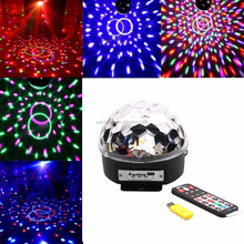 Bluetooth music stage lights mp3 crystal magic lights KTV bar with LED voice control remote control colorful lights
