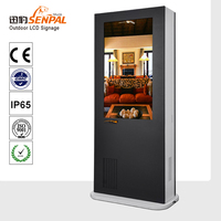 intelligent solar power air conditioning outdoor lcd /led tv advertising