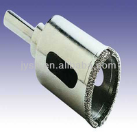 Electroplated diamond core drill bits for glass