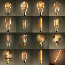 E27 Novelty Antique Lighting Retro Vintage Incandescent Bulbs 40W 220V Carbon Filament lights Handmade Edison Lamp