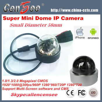 2014 New 2.0 Megapixel IP Dome Camera,58mm 1080P Indoor Mini Dome IP Camera