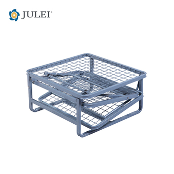 Space Saving Home Furniture Foldable Metal Bed with Cushion