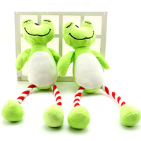 New design plush green frog pet products soft squeaky pet toy for dogs