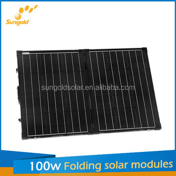 Compare Portable folding solar panel 100w for camping fans