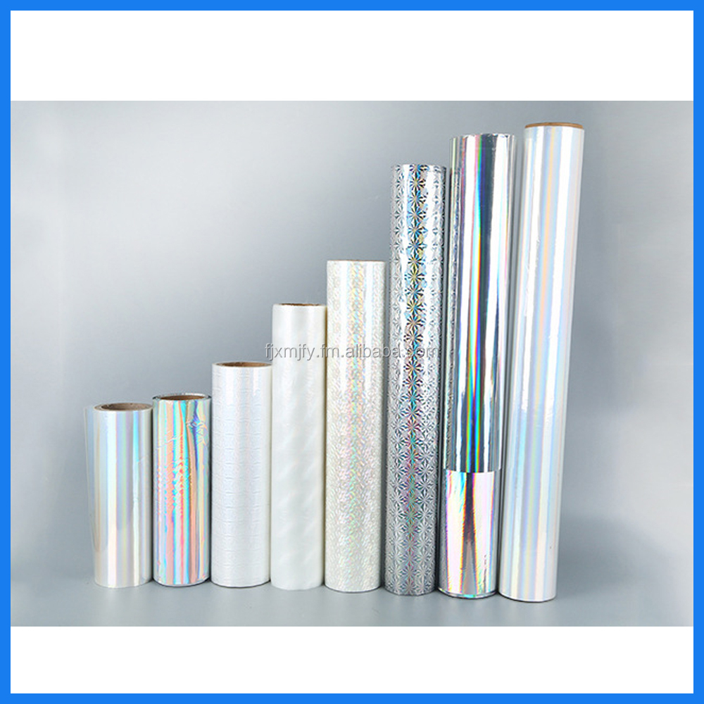 Laser Holographic BOPP PET PVC Film for packing laminate printing with SGS certificate