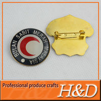 2013 Most popular high quality decorative round pin button badge materials