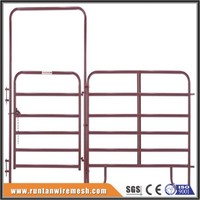 used powder coated galvanized steel pipe horse corral panels and horse pasture gates