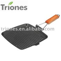 Carbon Steel Non-stick Grill Pan ( Cookware ) TR-FR2424