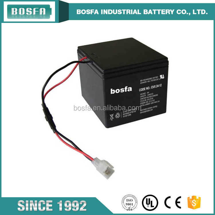 24v 12ah rechargeable operated vehicle battery EVX24-12ah for vehicle