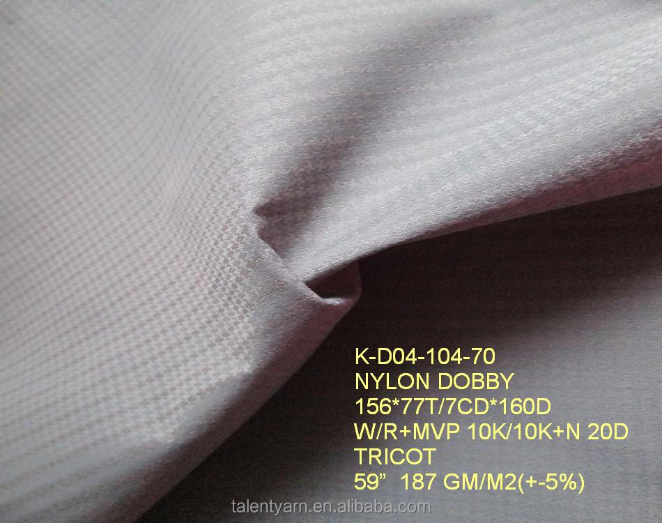 100% Nylon dobby outdoor woven tricot fabric