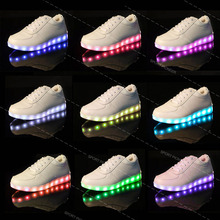 runing led sports shoes Sneaker Casual Lace Up Luminous Unisex Mens Womens