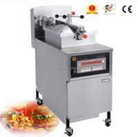 CE ISO9001 OEM automatic commercial electric Kfc fried chicken pressure fryer machine wih frying basket and oil filter system