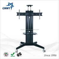 "mobile tv stand leg designs up to 65"" display from China manufacturer"