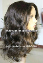 Unprocessed Brazilian Hair Natural Hairline Full Lace 100% Human Hair Wig