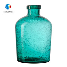 Unique shape cylinder glass types of modern vase