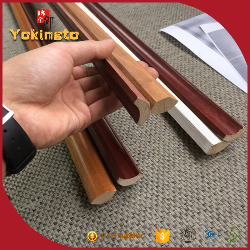 Wood skirting board/ decorative wood strip/ wood ceiling cornice