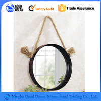 Large Oval Mirror with Wood Frame and Glass for Home Decoration and Make Up