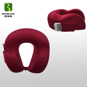 Comfort Memory Foam Travel Neck Pillow With Phone Bag For Music