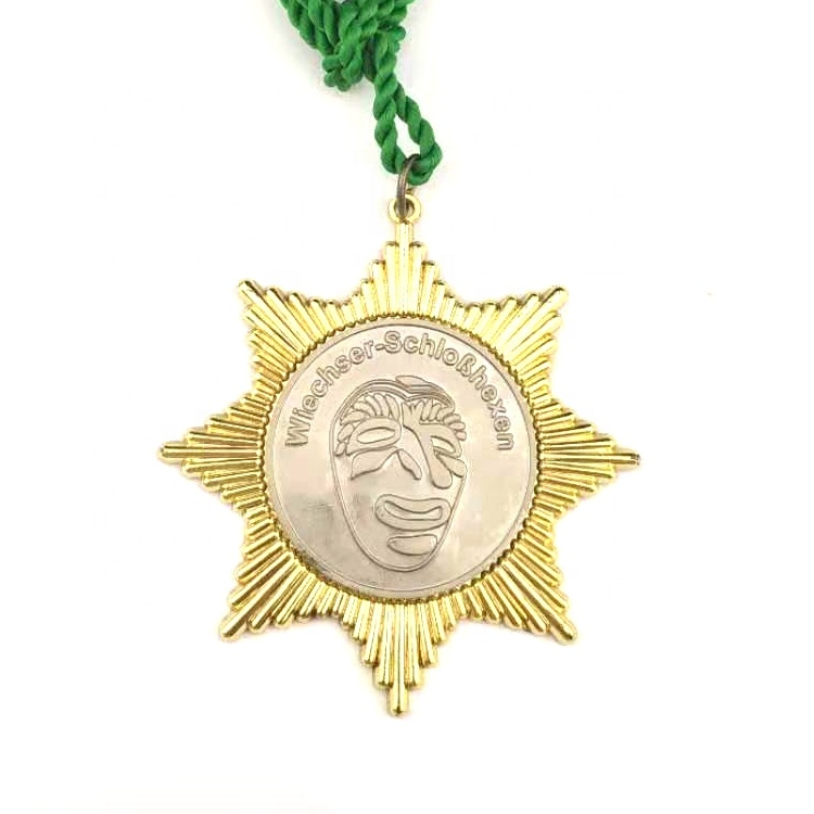 Wholesale gold zinc alloy  medal with high quality  custom 3d metal medal