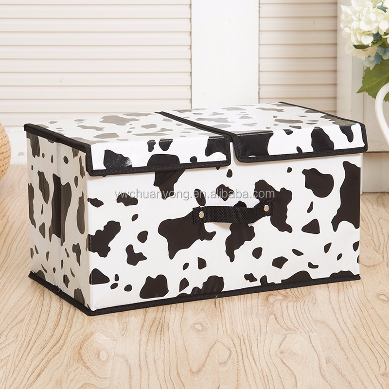 Cheap Wholesale Custom Waterproof Foldable Large Non Woven Kids Toy Storage Box