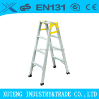 Aluminum double side ladder foldable easy store step ladder
