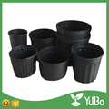 Tall rounded black planter wholesale outdoor gallon flower pots