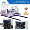 Corrugated box printing rotary die -cutting with slotting combined machine