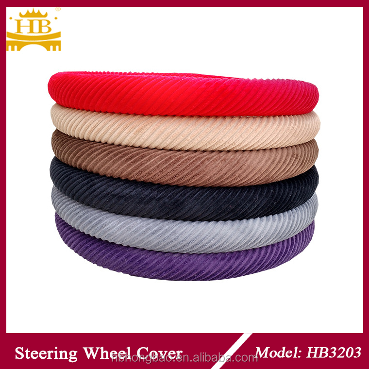 HB3203 heated fur car steering wheel cover