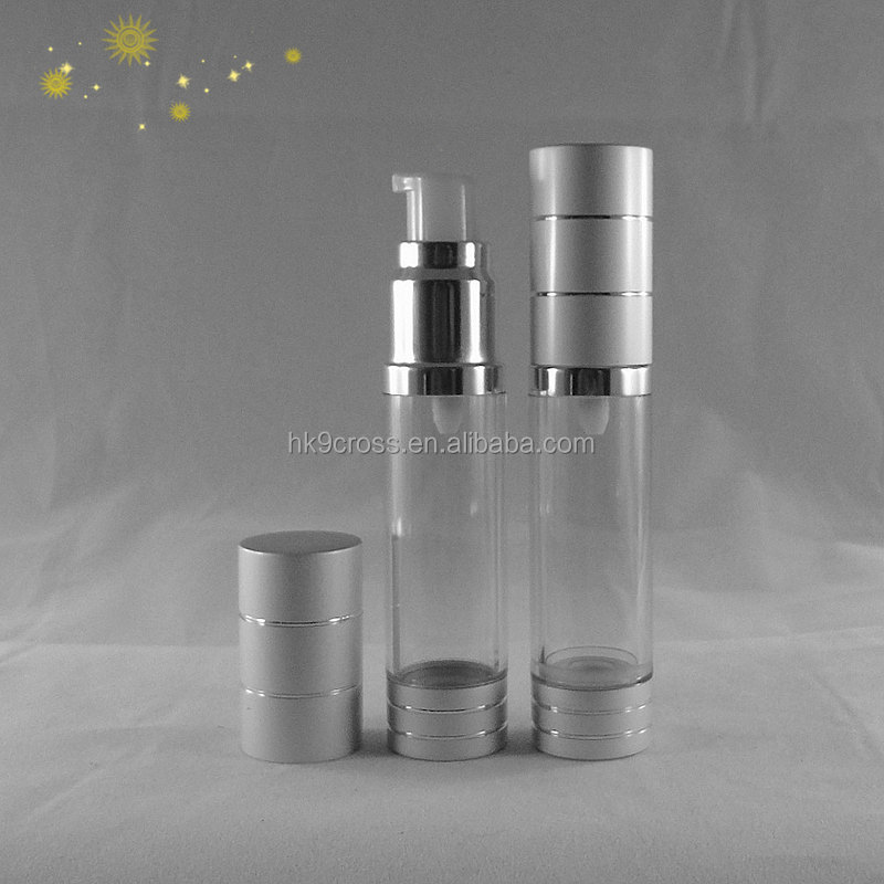 Wide using soap foam silver spray airless bottle 50ml for cosmetic