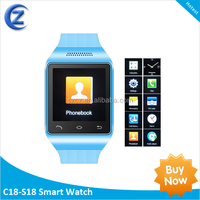 2014 the hot ! Free shipping Touch Screen GSM Q6 watch phone with Camera Bluetooth