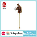ICTI , Sedex , EN71 audit wooden hobby horse on a stick with wheels and music
