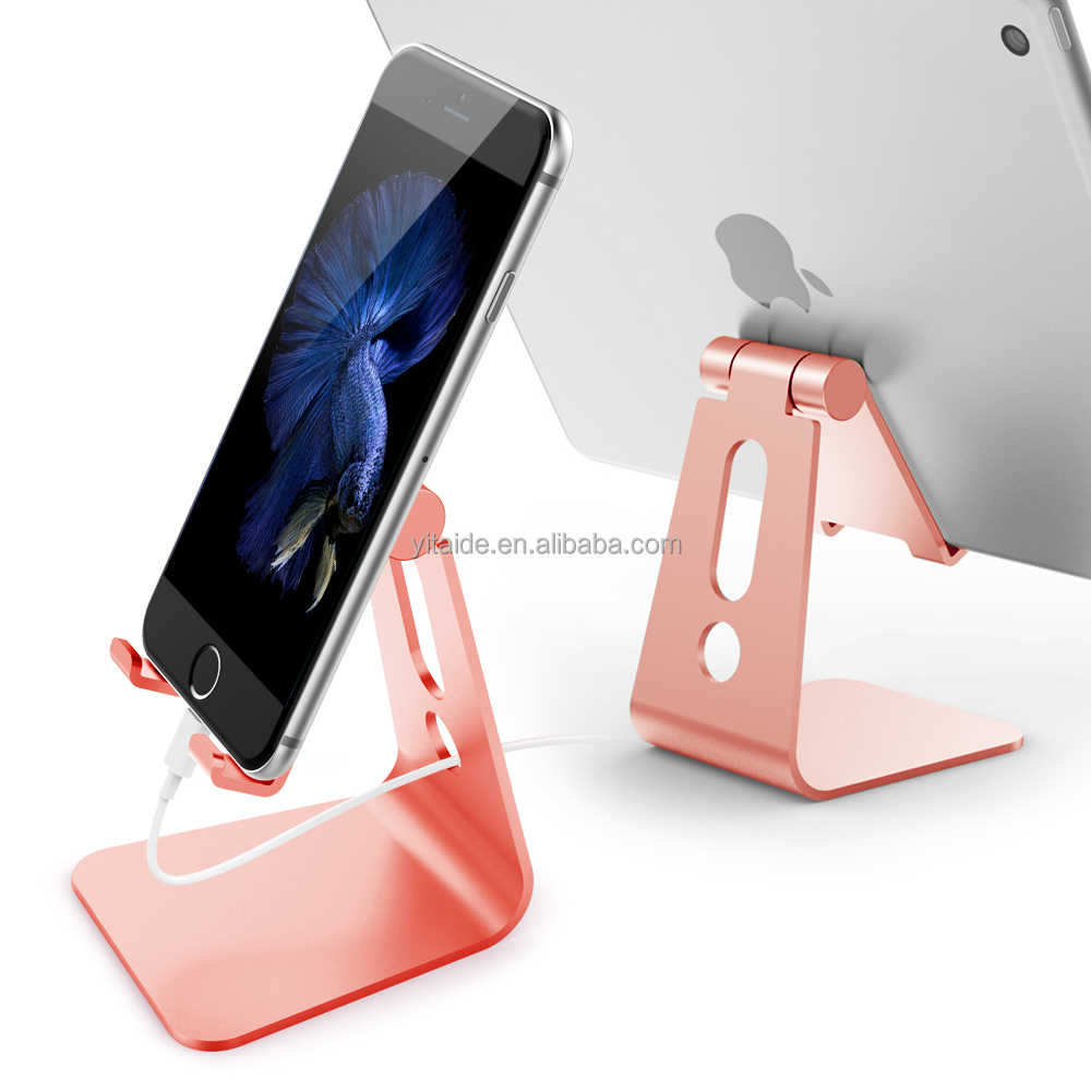 Aluminum Smart Phone Stand with Adjustable Rotation Viewing Angle