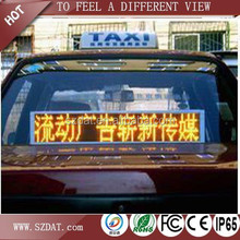 Dip P6 programmable scrolling information car led display boards single color R/G/B/W/Y
