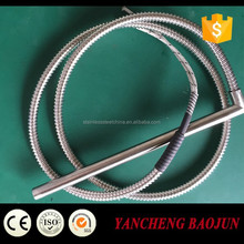 high temperature right angle Cartridge Heater with metal hose