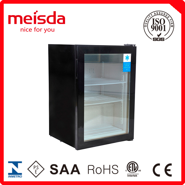 Hot Sales Protable Single Temperature Glass Door Table Top Freezer With CE ETL From China