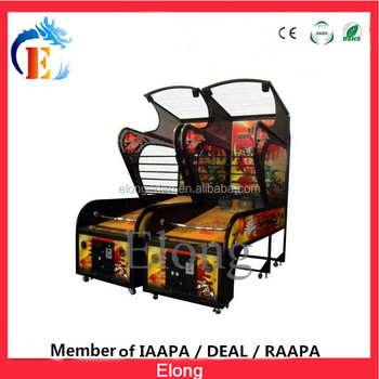 Amusement park coin operated basketball arcade game machine with high quality