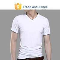 Mens Slim Fit V-neck T-shirt S-shirt V Neck V-neck T shirt