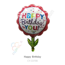 non latex balloons birthday party flower balloons foil happy birthday self inflatable balloons for sale