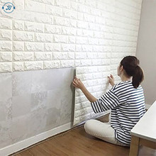 2018 tretchy collision avoidance Wallpaper Decoration 3D Brick PE Foam Wall Stickers