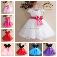 Flower Girl Princess Bow Dress Kids Party Pageant Wedding dress