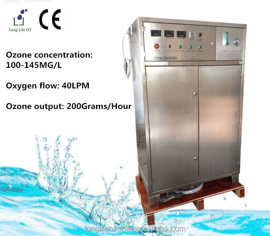 well equipped LF-OXF200G oxygen source ozonator/ozone water purifier for cleaning vegetables/pure water machine