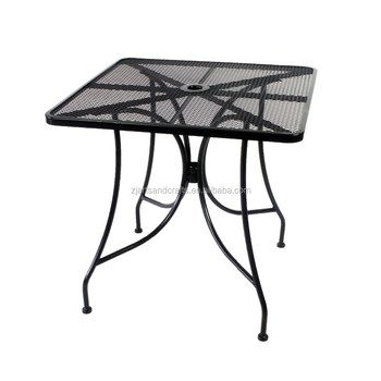 Metal Mesh Square Patio Garden Dining Table