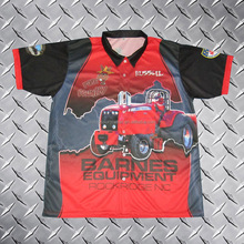 Sublimated button down racing crew pit jersey