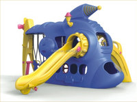 KAIQI GROUP hot sale space vessels kids plastic playsets with slide and swing