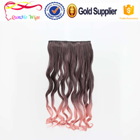 Customized bulk long wave hair extentions BB clip in hair wig 5clip hairpinece