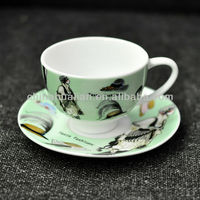 2013 NEW DESIGN HOT SELLING WHOLESALE 2oz high-temperature antique coffee cups and saucers