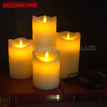 wholesale rf remote control decorative rechargeable scented church led votive lamp light electric candle