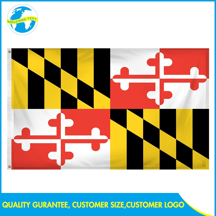 Outdoor side no moq large maryland flag