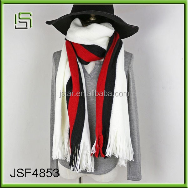 Wool knitted scarf new warm winter scarf scarf vertical striped shawl lady dual-use scarf fringed shawl